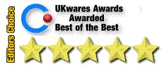 UKwares - 5 Star, Best of the Best, and Editor's Pick Awards